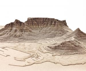 Nikki Onderstall's laser cut models of Cape Town