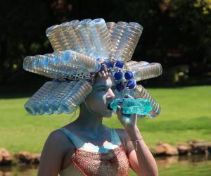 Celeste Theron uses performance art to create water awareness.