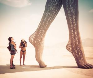 Burning Man is a week-long festival of interactive art in the Nevada desert.