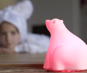 The glowing polar bear Hyko turns being environmentally aware into a playful game for the family.
