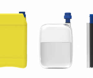 Inspired by the silver bag inside of a wine box, the Wat'bag pouch prevents drinkable water stored in reused jerry cans from becoming contaminated.