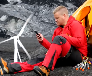 The Trinity turbine by Janulus is a lightweight portable wind turbine means you can generate electricity wherever you go