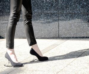 Yasuyuki Yamada has created a healthier alternative to conventional high-heeled shoes.