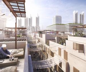 Egyptian government selects Foster + Partners to design the rundown Maspero Triangle District on the banks of the river Nile in downtown Cairo.