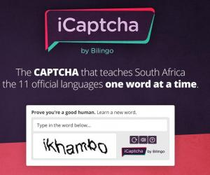 iCAPTCHA by Bilingo is a service that checks that you're not a robot while teaching South Africans words from the 11 official languages.
