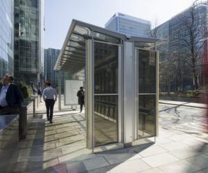 Polysolar bus shelter