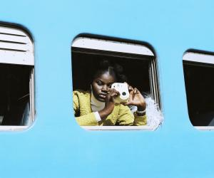 This recent winter campaign was shot by South African photographer Rudi Geyser against the backdrop of Dakar's old train station