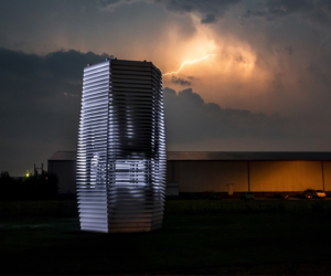 Beijing's Smog Free Tower turns polluted air into jewellery