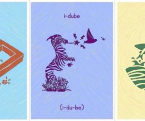 South African graphic designer Siya Masuku designed a beautiful printed Zulu alphabet, featuring 25 lively animals, to help teach children isiZulu.