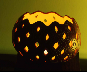 gourd candle holder