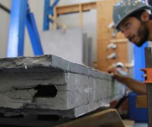 A concrete so malleable it won't break under severe earthquake pressure.