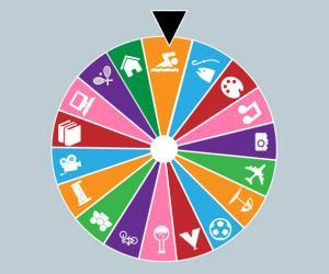 Randomised Lifestyle Wheel of Fortune by Kalia Barkai