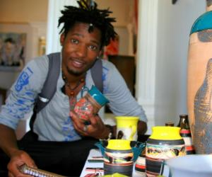 """Sikho Mququ's ceramics are based on the idea of """"Ityali"""" - a traditional Xhosa blanket."""