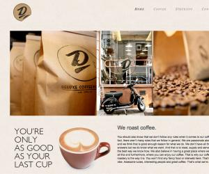 Deluxe Coffee Works website