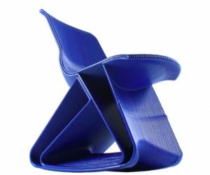 The thick lines of Dirk Vander Kooij's 3D printed chair.