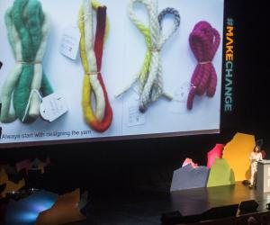 Dutch designer Hella Jongerius urged the design community to search for greater ideals in design.