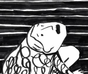 "Julia Veldman illustated ""Andrej"", a short film inspired by Russian absurdism."