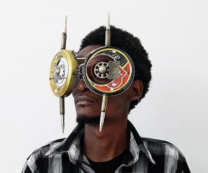 Cyrus Kabiru creates eccentric eyeglasses from electrical waste