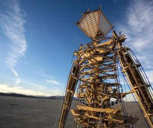 Burning Man's founder Larry Harvey describes how the festival of arts is driven by a strange combination of jeopardy and awe