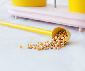 Design Academy Eindhoven graduate Jolene Carlier adds a bit of fun and colour to popcorn making with her Willy Wonka-inspired invention