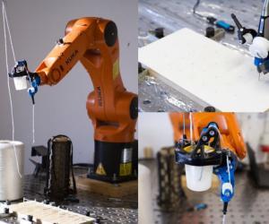 Basia Dzaman's customised robotic arm.