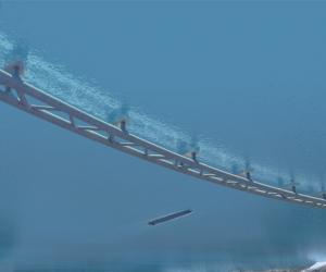 Submerged ocean tunnels rendering