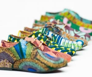 Beyla print shoes by Aissatou Sene