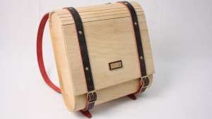 Umtwalo Wooden Backpack by Inga, Gubeka, Indalo Décor, South Africa.