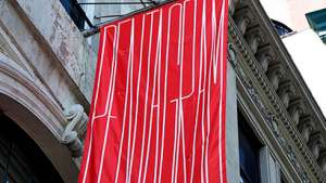 Pentagram banner by Michael Bierut.
