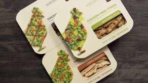 Chicken-free strips by Beyond Meat.