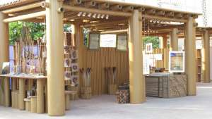 Design Souq cardboard pavilion by Shigeru Ban for the Abu Dhabi Art Festival.