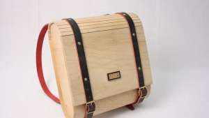 Umtwalo Wooden Backpack by Inga Gubeka.