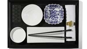Japanese tableware by Marcel Wanders for KLM.
