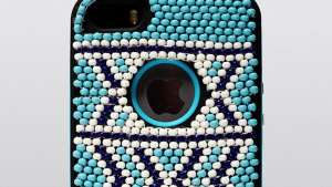 Xhosa-inspired beadwork iPhone case by Vukile Batyi and Laduma Ngxokolo.