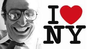 Milton Glaser and his I ♥ NY logo. Photo by Sam Haskins. Image: Phaidon.