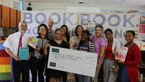 Design Indaba hands cheque over to Kannemeyer Primary School