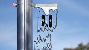 """Robin Schnetler's """"Monster Series"""" sees him illustrating pictures of monsters into photographs of downtown Cape Town."""