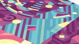 The poster for California's Santa Monica Pier by South African illustrator and graphic designer Si Maclennan comes alive in this colourful gif