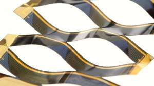 The solar cells bends to catch the sun's energy more efficiently.