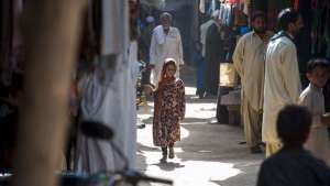 The bustling market place is the centre of the community in the Kot Chandana refugee village. Image: UNHCR Photo galleries