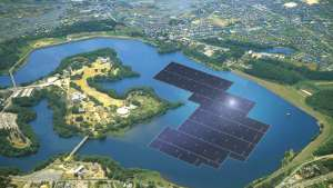 Artist's rendering of Kyocera's Yamakura dam power plant.