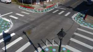 Pedestrian system plan in Austin