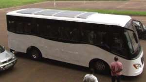 Uganda-based Kiira Motors revealed the first solar-powered bus in Africa – the Kayoola prototype bus.