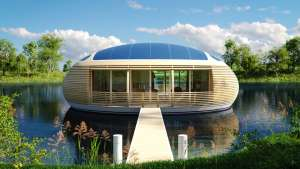 This floating home is 98% recyclable