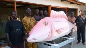 Coffin workshop in Ghana