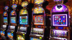 A range of slot machines