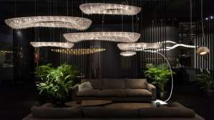Hungarian lighting design studio Manooi create bespoke crystal chandeliers with cutting edge style.