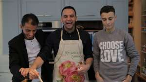 Meet the chefs – Fadil, Ali and Yusef – who are using the new mobile app TimePeace to share their skills and friendship