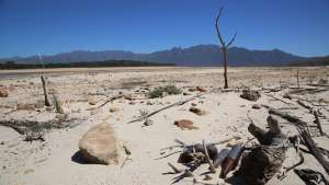 Cape Town's Theewaterskloof Dam is drying up fast. Picture by Ezra Nathan