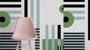Pacboy pattern wallpaper by Renee Rossouw